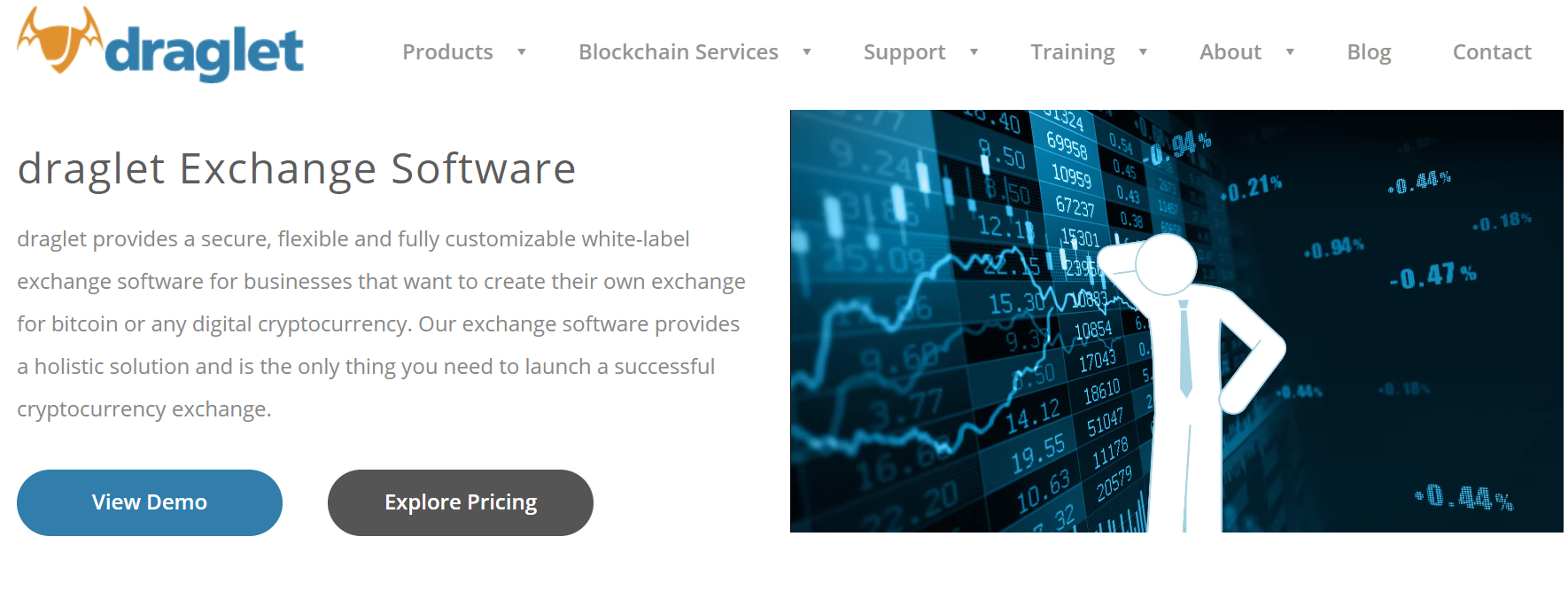 Draglet Top Crypto Exchange Software Solutions