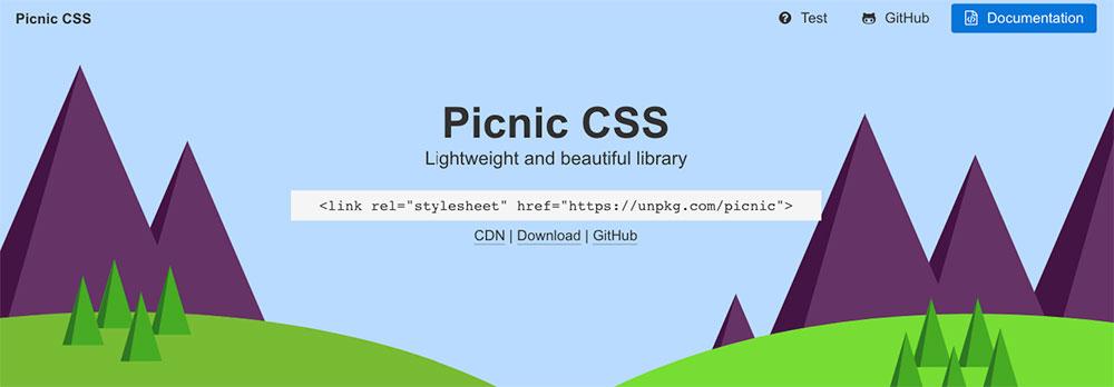CSS Frameworks 2019 - Picnic CSS