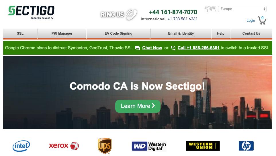 SSL Provider: comodo