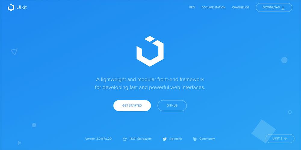 CSS Frameworks 2019 - UIkit CSS