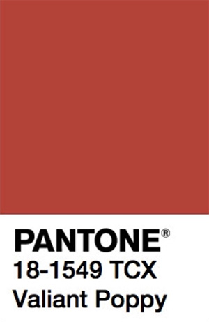 Pantone Color Trends 2019: Valiant Poppy
