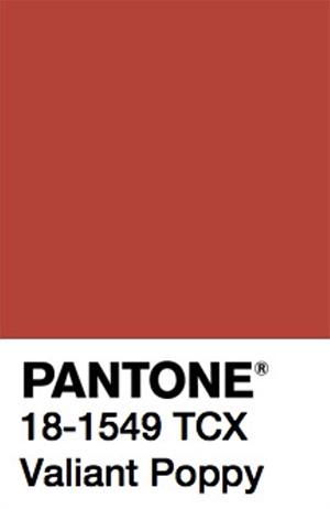 Pantone Color Trends 2019: Valiant Poppy