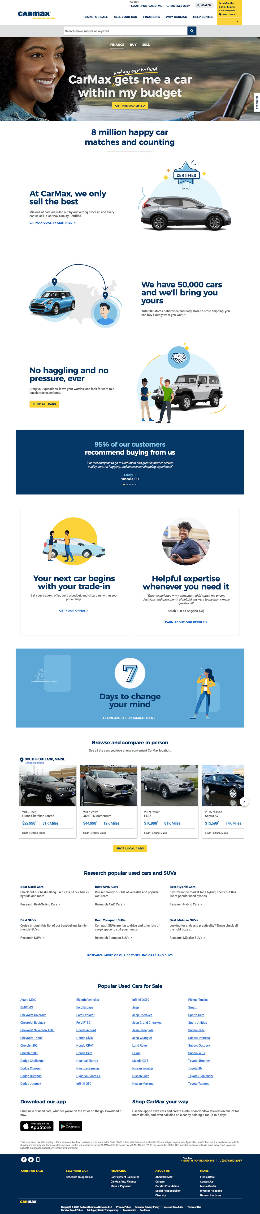Carmax web design