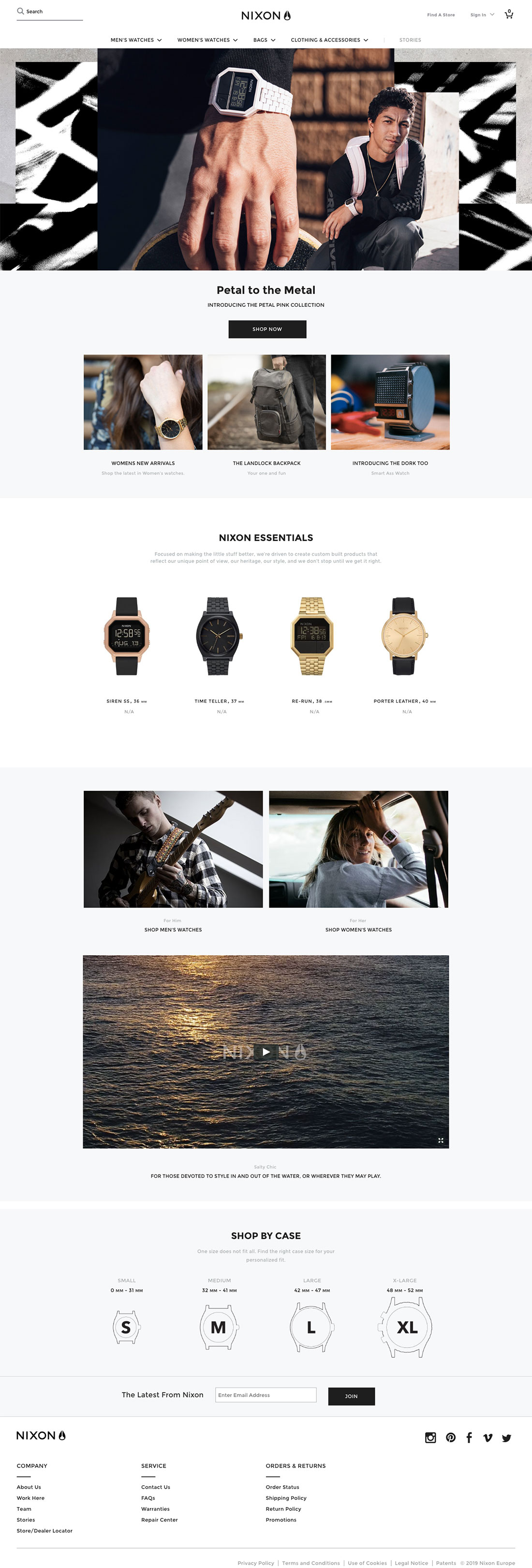 Nixon - website design example