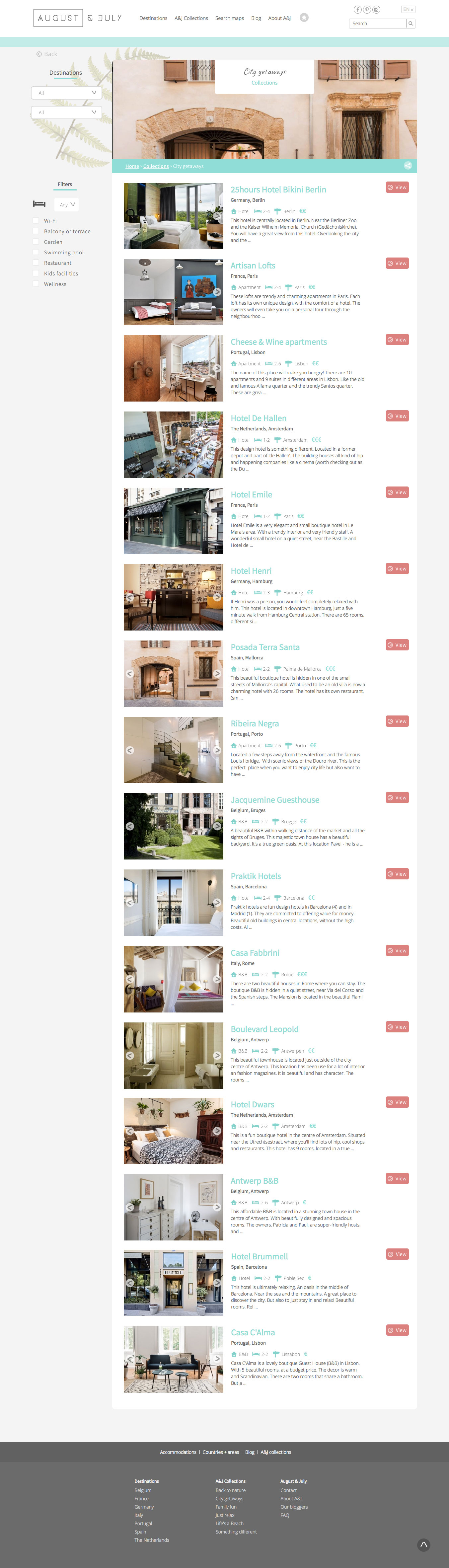 August & July - Travel project - Web-design - Merehead Development
