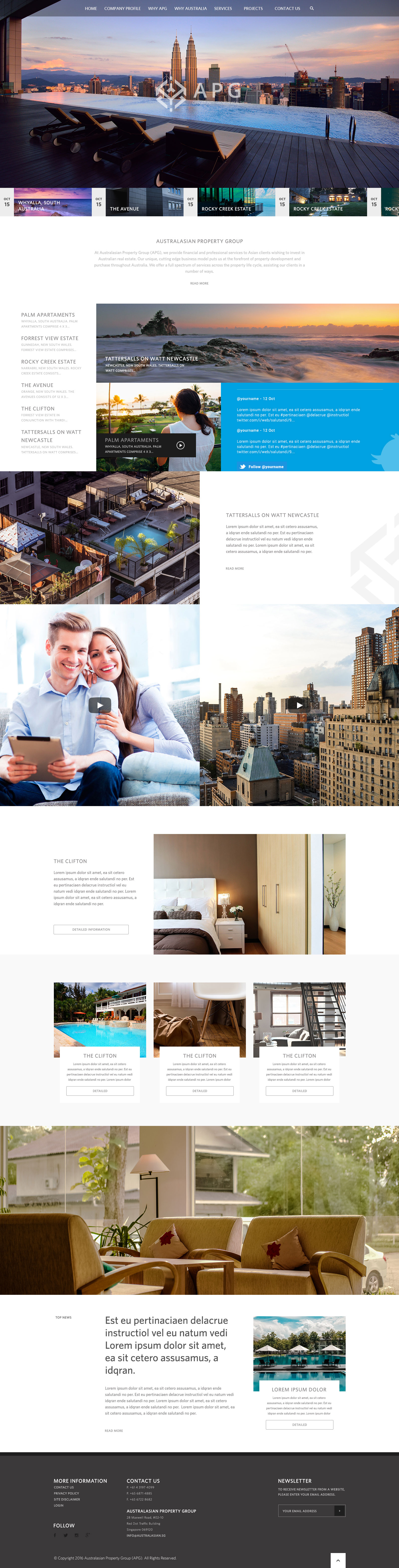 Real Estate Company - Landing page - Web-design - Merehead Development