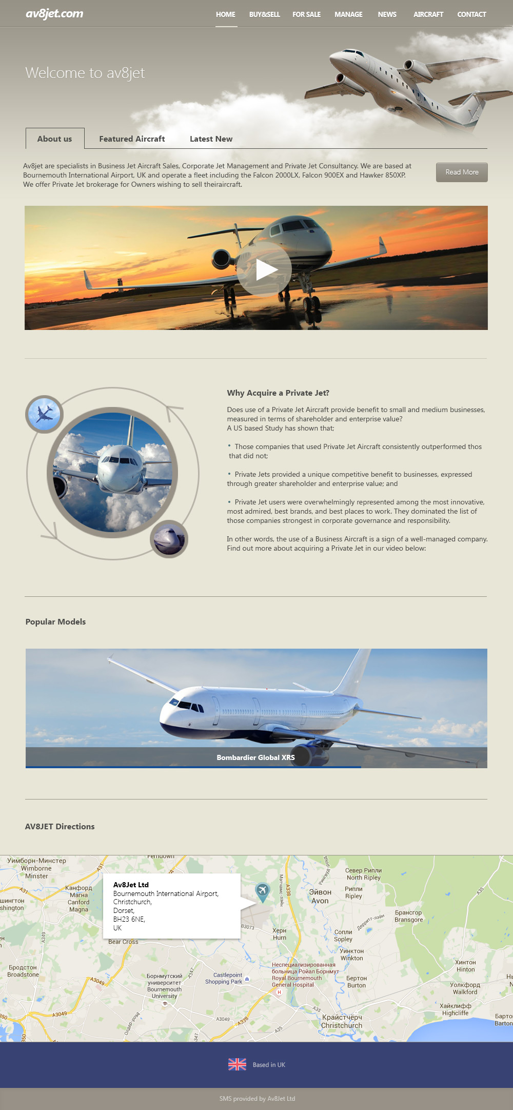 Av8Jet - Flight company - Web-Development - Merehead Development