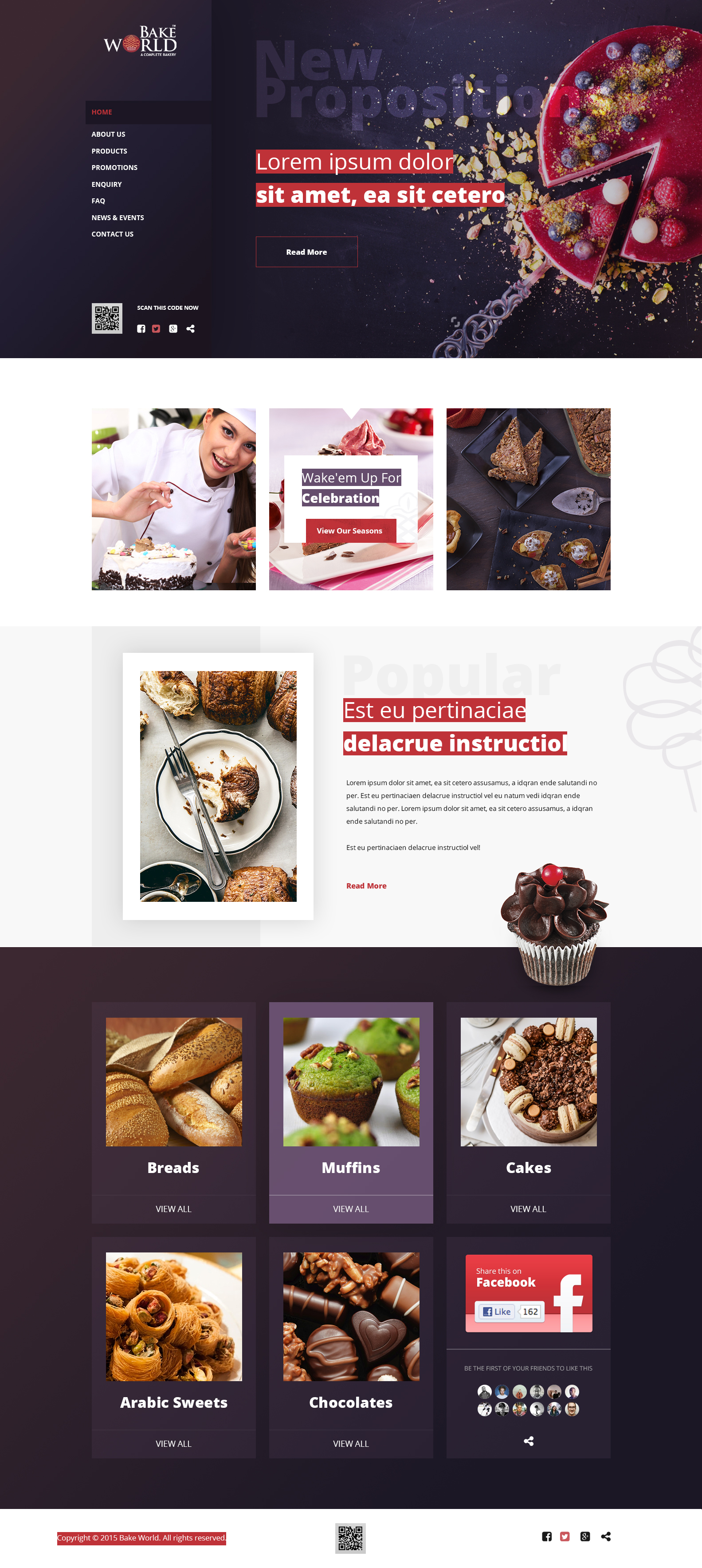 Bakeworld: Bakery & Restaurant Design - Business Project - Web-Design - Merehead Development