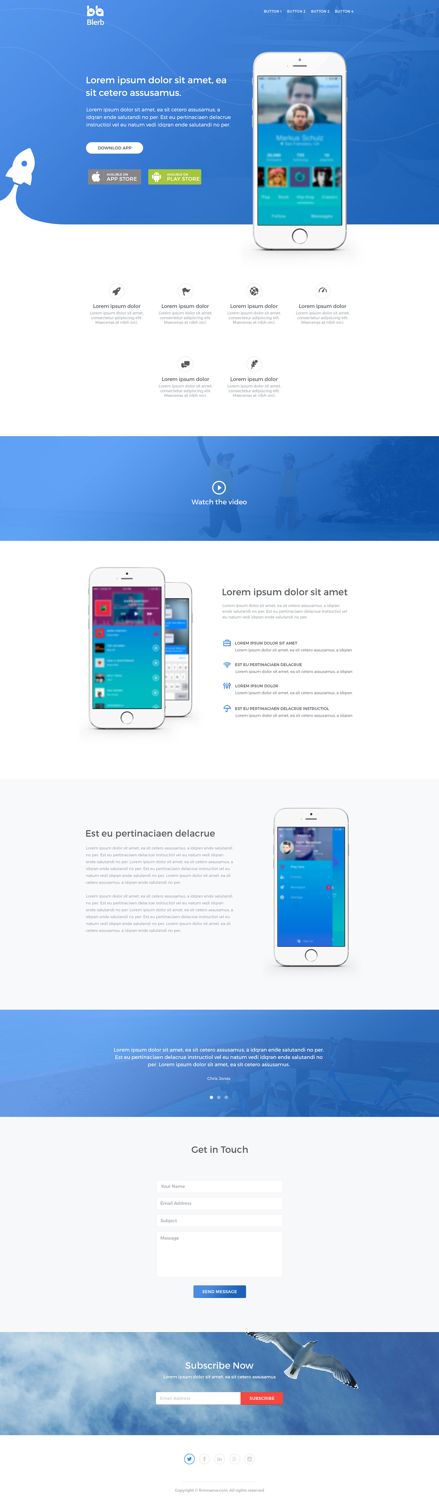 Blerb - Landing Page - Web-Design - Merehead Development