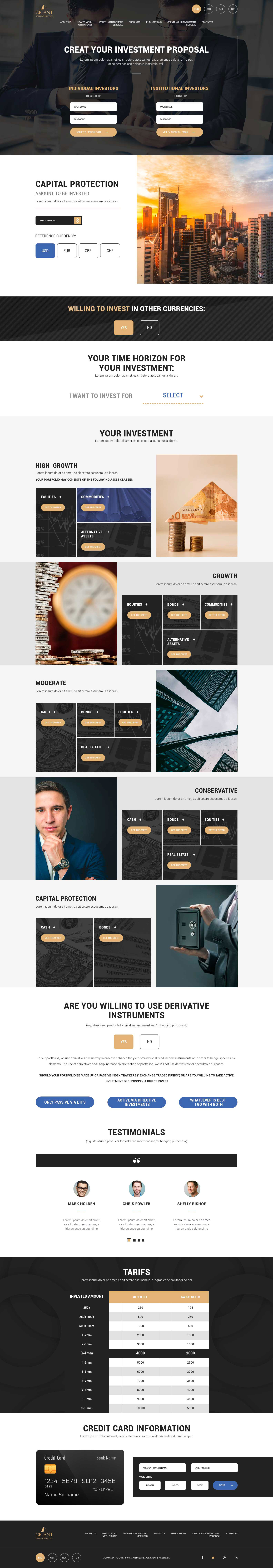 Gigant - Business Project - Web-Design - Merehead Development