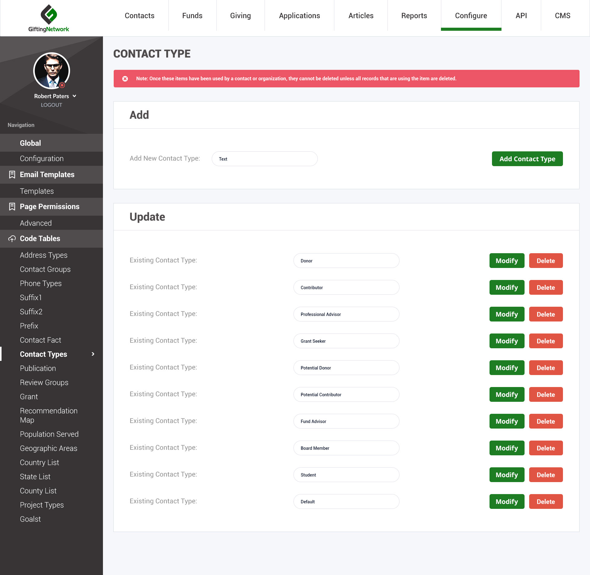 Gifting network - Dashboard - Web-Development - Merehead Development