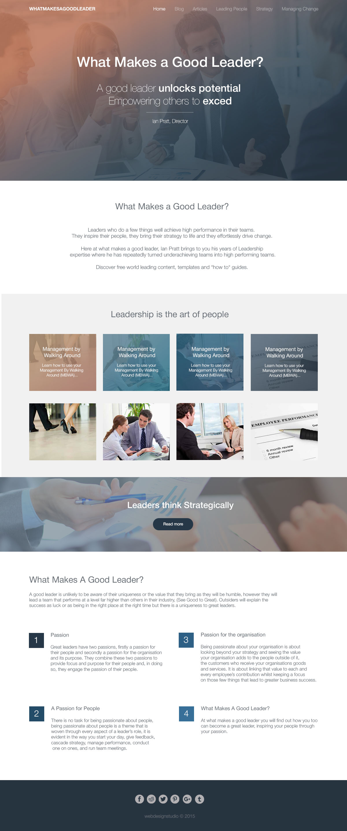 Good Leader - Company website - Web-development - Merehead Development