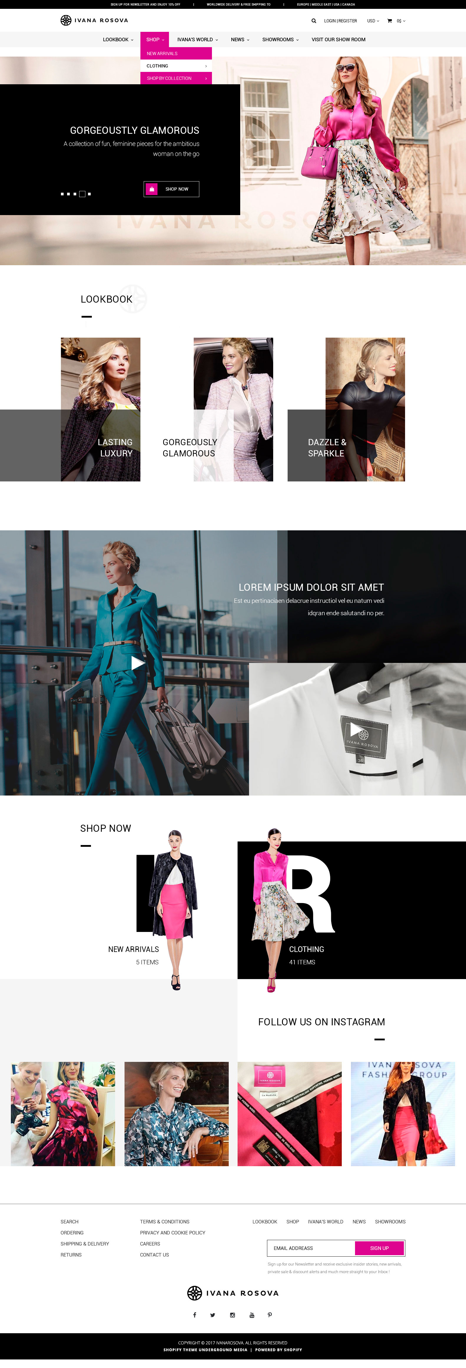 Retail sale of clothing - E-commerce project - Web-design - Merehead Development