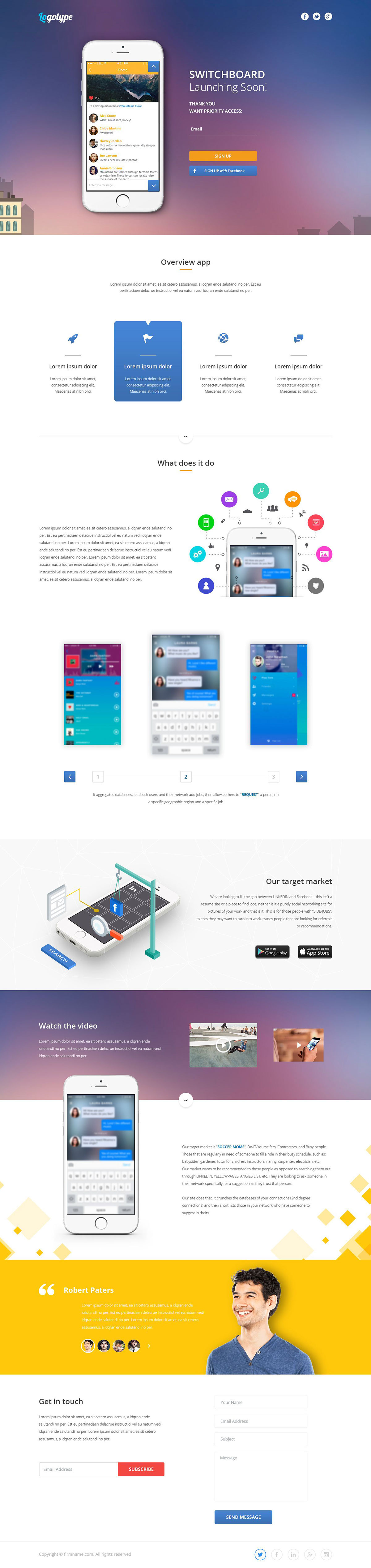 Switchboarding - Landing page - Web-development - Merehead Development