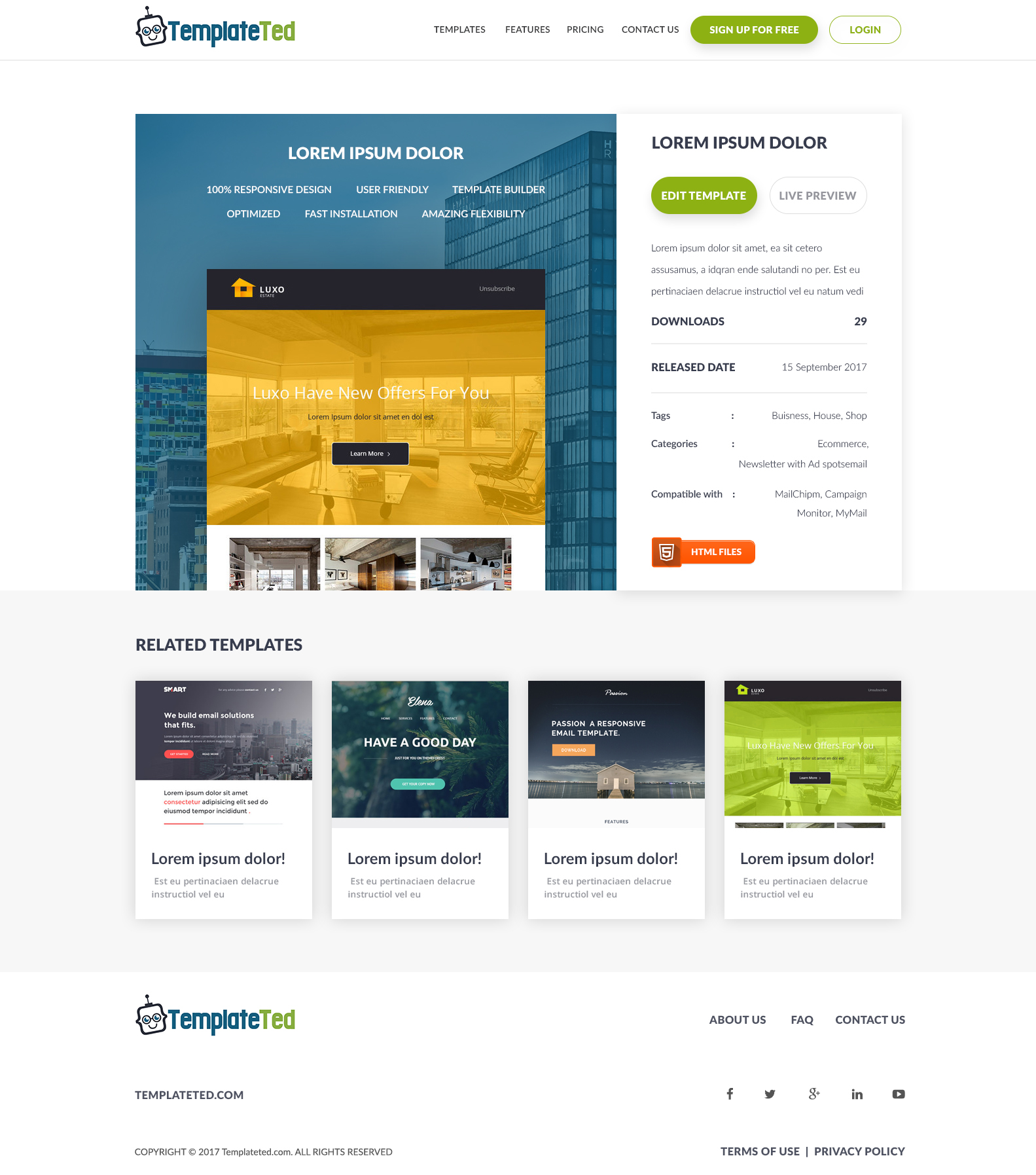 Designs for email templates service - SaaS project - Web-Design - Merehead Development