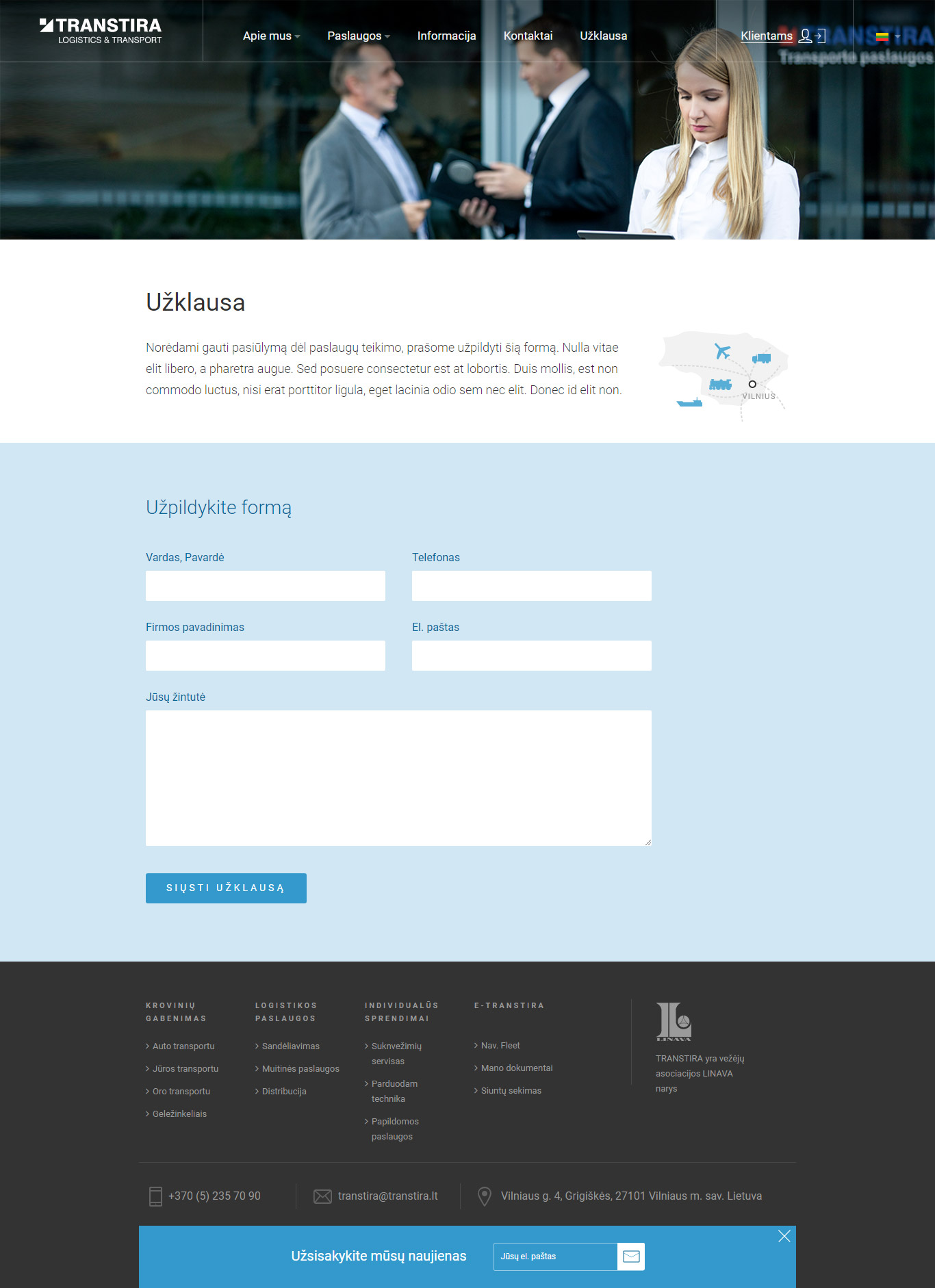 Logistic company - Freight & Logistics - Web-Design - Merehead Development