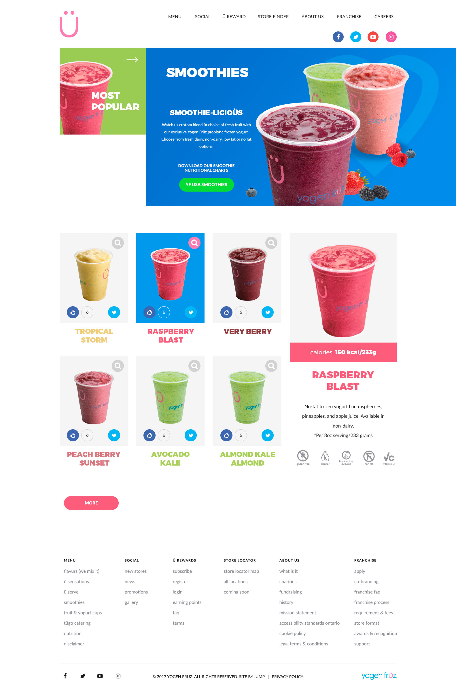 Food Company Website Design - Business Project - Web-Design - Merehead Development